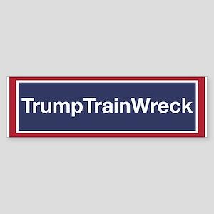Trump Train Wreck Bumper Sticker