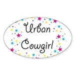 Urban Cowgirl Sticker (Oval 10 pk)