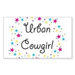 Urban Cowgirl Sticker (Rectangle)