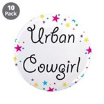 "Urban Cowgirl 3.5"" Button (10 pack)"