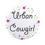 "Urban Cowgirl 3.5"" Button"