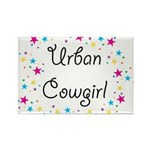 Urban Cowgirl Rectangle Magnet
