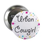 "Urban Cowgirl 2.25"" Button"