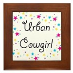 Urban Cowgirl Framed Tile