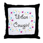 Urban Cowgirl Throw Pillow