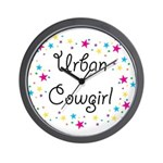 Urban Cowgirl Wall Clock