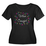 Urban Cowgirl Women's Plus Size Scoop Neck Dark T-