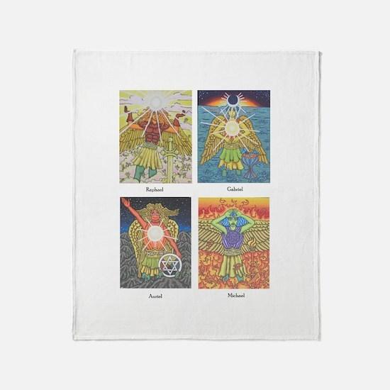 Four Archangels Throw Blanket