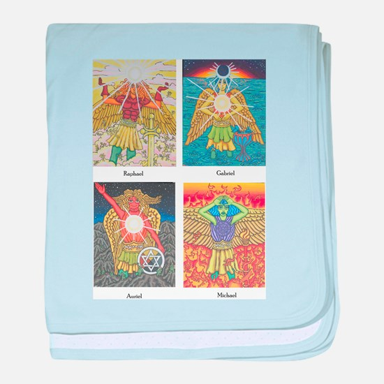 Four Archangels baby blanket