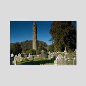 Round Tower, Glendalough - Rectangle Magnet