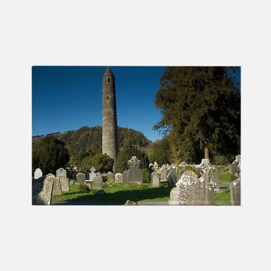 Round Tower, Glendalough - Rectangle Magnet