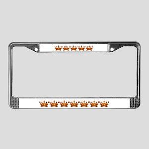 Gold Leaf Crown License Plate Frame