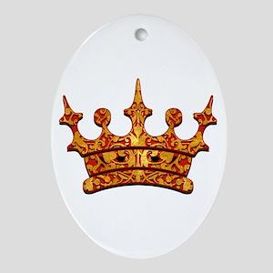 Gold Leaf Crown Ornament (Oval)