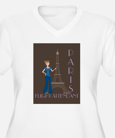 Paris Flight Attendant T-Shirt
