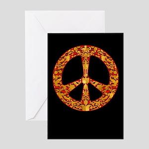 Gold Leaf Peace Greeting Card