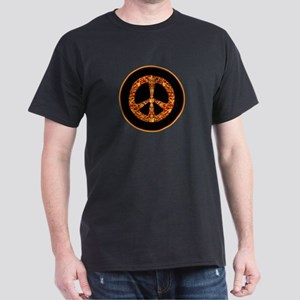 Gold Leaf Peace Dark T-Shirt
