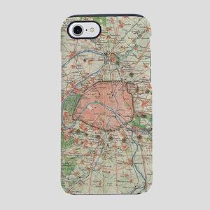 Vintage Map of the Paris Franc iPhone 7 Tough Case