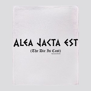 Alea Jacta Throw Blanket