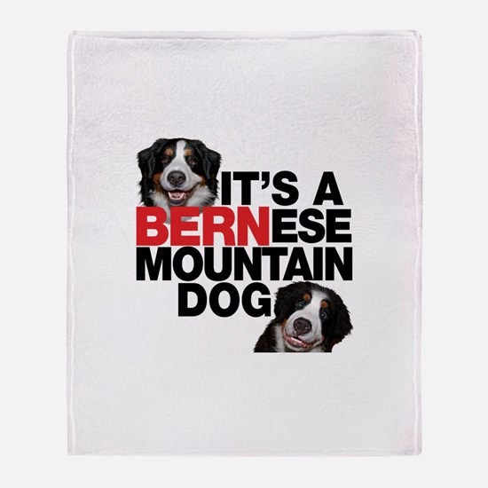 It's a BERNese Mountain Dog Throw Blanket