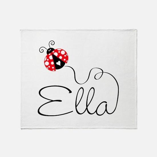 Ladybug Ella Throw Blanket