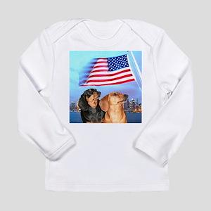 USA Dachshunds Long Sleeve Infant T-Shirt