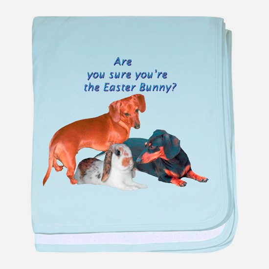 are you the Easter Bunny Dogs baby blanket