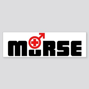 Design_2_Murse dark red Bumper Sticker