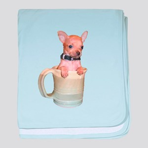 Coffee Cup Puppy baby blanket