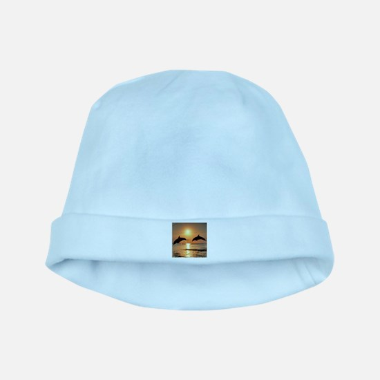 Two Dolphins baby hat