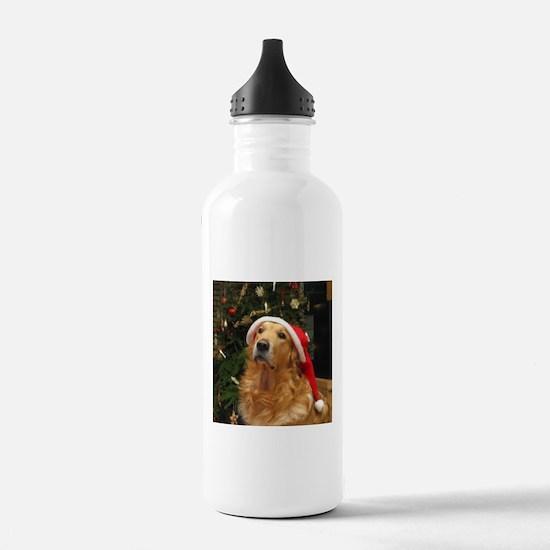 Golden Santa Water Bottle