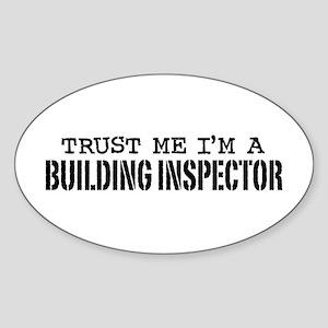 Building Inspector Sticker (Oval)