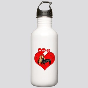 We Love U Stainless Water Bottle 1.0L