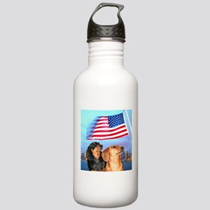 USA Dachshunds Stainless Water Bottle 1.0L