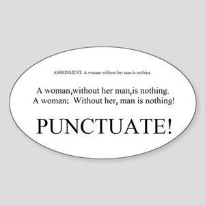 PUNCTUATE! Oval Sticker