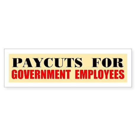 CUT THEIR PAY Sticker (Bumper)