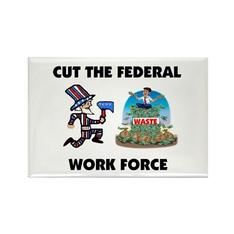 CUT THEIR PAY Rectangle Magnet