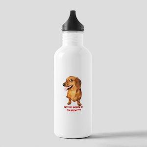 Looking at My Wiener Dachshun Stainless Water Bott