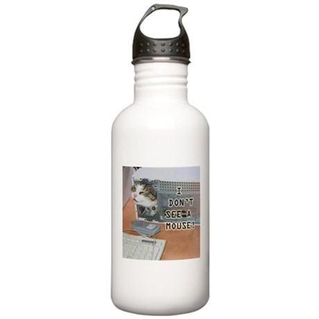 No Mouse Stainless Water Bottle 1.0L