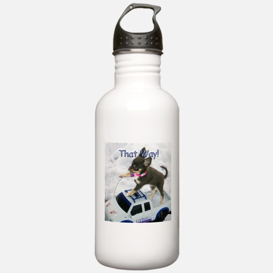 Chihuahua Trucker Water Bottle