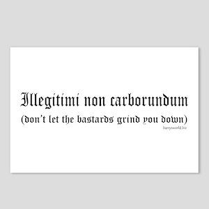 Illegitimi Postcards (Package of 8)