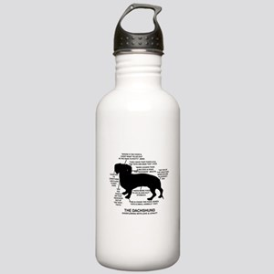 Dachshund Chart Stainless Water Bottle 1.0L