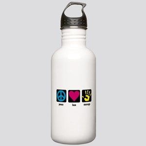 Peace, Love, Massage Stainless Water Bottle 1.0L