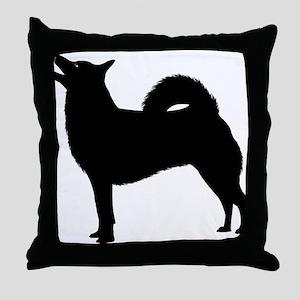 Norwegian Buhund Throw Pillow