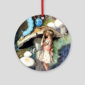 ALICE & CATERPILLAR Ornament (Round)