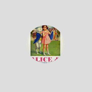 LICE & THE WHITE RABBIT Mini Button