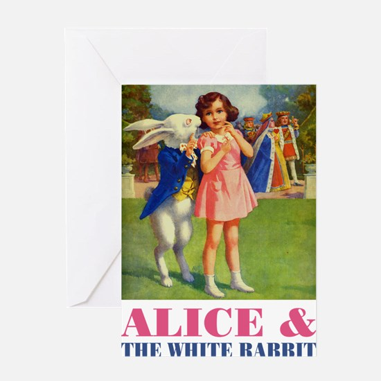 LICE & THE WHITE RABBIT Greeting Card