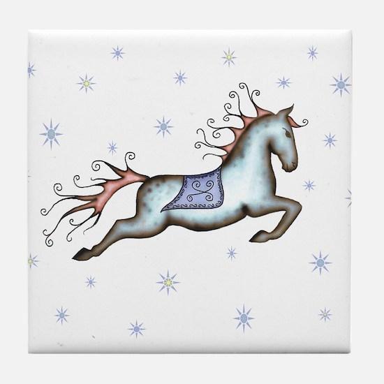 Starry Sky Horse Tile Coaster