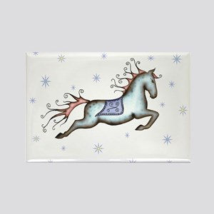 Starry Sky Horse Rectangle Magnet
