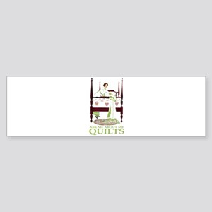 ASK ME ABOUT MY QUILTS! Sticker (Bumper)