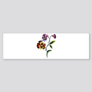 FAUX EMBROIDERED PANSY Sticker (Bumper)